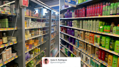 Photo of Fury as photos show African-American hair products LOCKED UP on Walmart shelves…