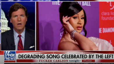 """Photo of Sexually Repressed Fox Anchor Tucker Carlson Freaks Out Over """"WAP"""" Video: Watch"""