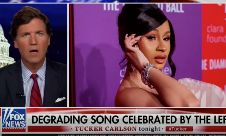 "Sexually Repressed Fox Anchor Tucker Carlson Freaks Out Over ""WAP"" Video: Watch"