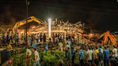 Photo of Dozens feared trapped in building collapse in India's Maharashtra state