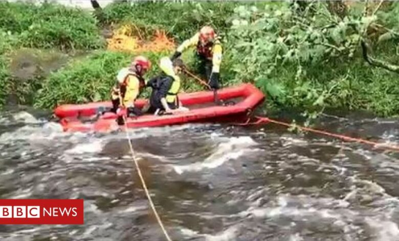 Storm Francis: Wild camping teens rescued from 'raging torrent'